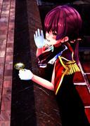 コーヒーを飲みながら檄を飛ばす船長