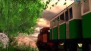 夕刻の中汽車は行く
