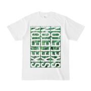 Tシャツ | ホワイト | SKELETON☆みのー