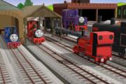 修理から帰った登山機関車