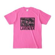 Tシャツ   ピンク   LAVENDERは咲く