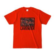 Tシャツ   レッド   LAVENDERは咲く