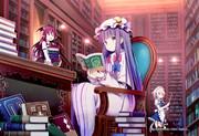 紅魔館の大図書館