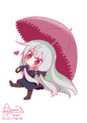 ちっちゃい傘でごきげんなちびソフィーちゃん