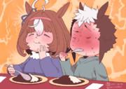 ドトウに誘われて激辛カレーを食べるライアン