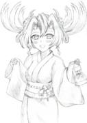 浴衣鶴棲姫ちゃん