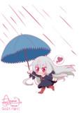雨でごきげんなちびソフィーちゃん