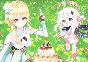 原神1周年おめでとう!特製ケーキを召し上がれ~