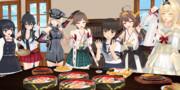 【MMD艦隊通信】イベントの合間の お祝いパーティ♪
