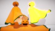 【MMDアクセサリ配布】かぼちゃマスクとマント