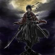 日本刀(長ドス?)と高所と急襲と夜と鉢金と不敵な笑み