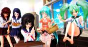 【MMDハロウィン】 Eクラスのみんなに お菓子を配ったよ…♡