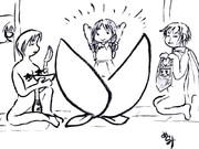 パトロセンタさんの漫才を見て~桃太郎イラスト~