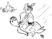 パトロセンタさんの漫才を見て~浦島太郎イラスト~