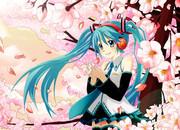 桜とミクたん