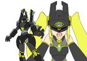 【攻強皇國機甲】第一期DVD3巻特典:シークレットデマ様ポスカ【修正版】