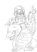 アラレちゃんと竜