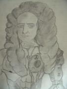 友人たちと理科の教科書に載ってた人を描いてみた ver.ニュートン