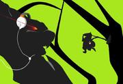 [ペイント×マウス]ナルガwithオトモアイルーを描いてみた