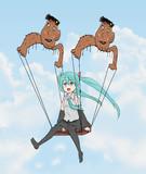 ゆよゆっぺさんのオリジナルキャラと空を飛ぶ