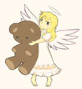 魔理沙+天使+テディベア
