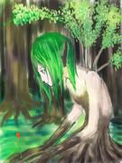 森の少女(落書き)