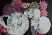 頭蓋骨と花