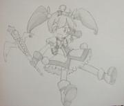メルルを鉛筆一本で描いてみた^^