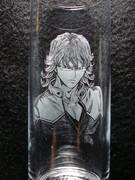 手彫りグラス  バーナビー