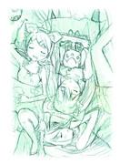 【ラフ】ミク&ルカ&リン「真夏の眠り姫」