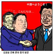 金総書記の三男で後継者の正恩氏中国訪問