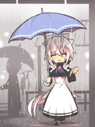 雨とお迎えハク