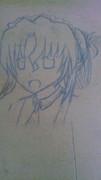 机にマリアさんを 描いてみた