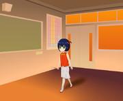 夕暮れの教室で