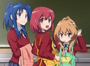 【とらドラ!】制服エプロンで3人娘
