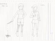 BlankBlood の天崎姉妹を描いてみた 1