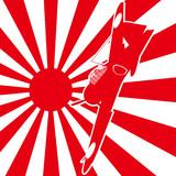 旭日旗と零式艦上戦闘機