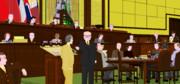 東京裁判の絵