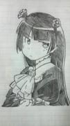 黒猫描いてみた!アナログ