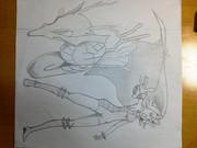 イブキとキングドラです・・・多分・・・;w;