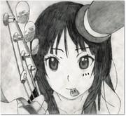 けいおん・澪ちゃん・鉛筆画
