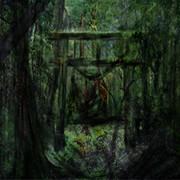 森の中に異界へ門