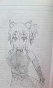 【稲犬】ユキカゼを描いてみた