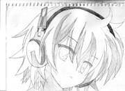 授業中にシャーペンで緋弾のアリアのスナイパーの子を描いてみた
