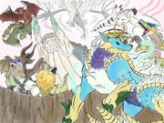 【脱力MHP3】大神っぽくモンハン描いてみた