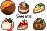 お菓子のドット絵詰め合わせ