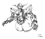 10分で描いたジオング(模写)