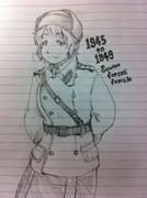 ラクガキ ソ連軍女性兵さん