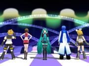 【MMD】VOCALOIDでニコニコ動画流星群のサムネ再現風