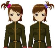 【ド素人GMとアイドルのry】亜美真美 ジオン軍服